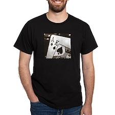 Sepia Ace King Poker T-Shirt