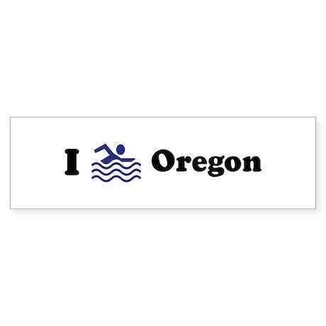 Swim Oregon Bumper Sticker
