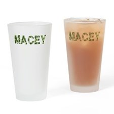 Macey, Vintage Camo, Drinking Glass