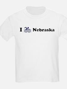 Swim Nebraska Kids T-Shirt