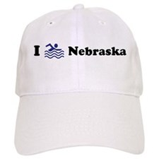 Swim Nebraska Baseball Cap