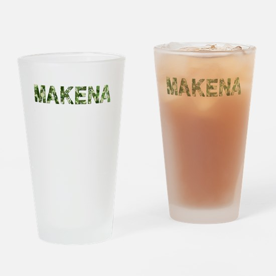 Makena, Vintage Camo, Drinking Glass