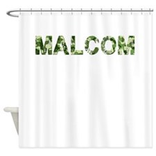 Malcom, Vintage Camo, Shower Curtain