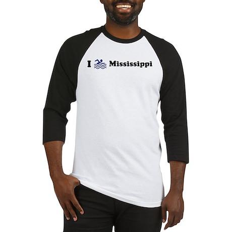 Swim Mississippi Baseball Jersey