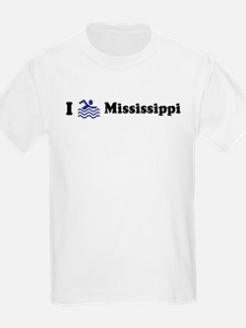 Swim Mississippi Kids T-Shirt