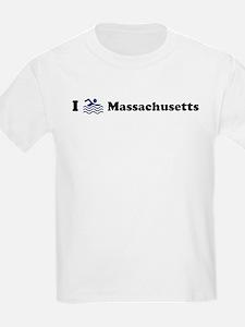 Swim Massachusetts Kids T-Shirt