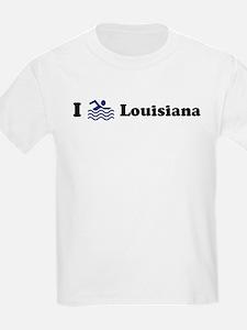 Swim Louisiana Kids T-Shirt