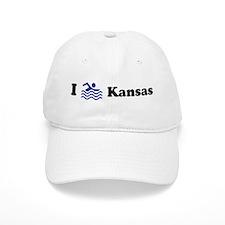 Swim Kansas Baseball Cap