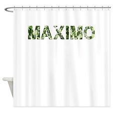 Maximo, Vintage Camo, Shower Curtain
