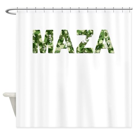Maza, Vintage Camo, Shower Curtain