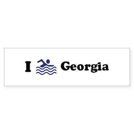 Swim Georgia Bumper Sticker
