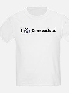 Swim Connecticut Kids T-Shirt