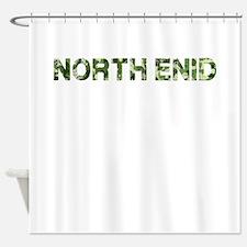 North Enid, Vintage Camo, Shower Curtain