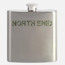 North Enid, Vintage Camo, Flask