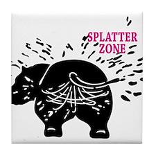 Splatter Zone Tile Coaster
