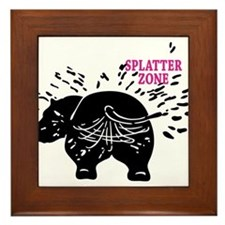 Splatter Zone Framed Tile