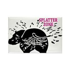 Splatter Zone Rectangle Magnet