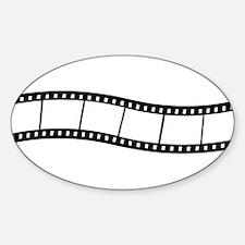 Film Wave 1 Sticker (Oval)