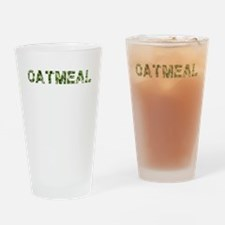 Oatmeal, Vintage Camo, Drinking Glass