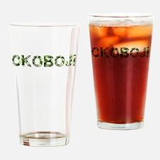 Okoboji, Vintage Camo, Drinking Glass