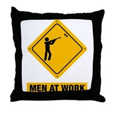 Skeet Shooting Throw Pillow