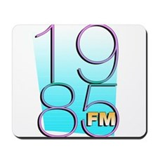1985FM White Logo Mousepad