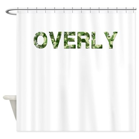 Overly, Vintage Camo, Shower Curtain