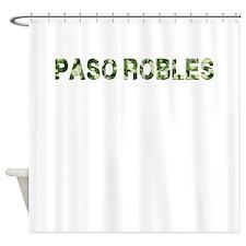 Paso Robles, Vintage Camo, Shower Curtain