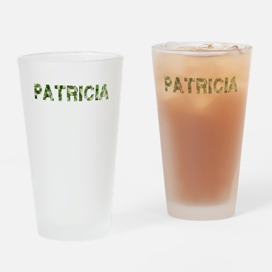 Patricia, Vintage Camo, Drinking Glass