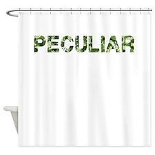 Peculiar, Vintage Camo, Shower Curtain