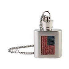 US Flag Flask Necklace