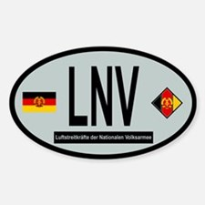 Oval of East German Air Force Sticker (Oval)