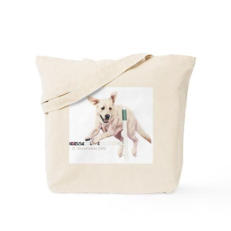 Yellow Labrador Agility Tote Bag