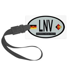 Oval of East German Air Force Luggage Tag