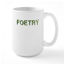 Poetry, Vintage Camo, Mug