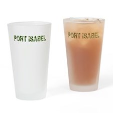 Port Isabel, Vintage Camo, Drinking Glass
