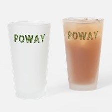 Poway, Vintage Camo, Drinking Glass