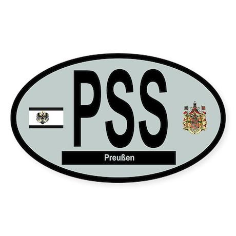 Car code - Prussia - Grey Sticker (Oval)
