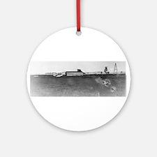 1904 Huffman Prairie Shop Ornament (Round)