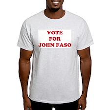 VOTE FOR JOHN FASO  Ash Grey T-Shirt