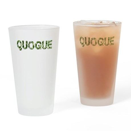 Quogue, Vintage Camo, Drinking Glass