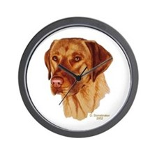 Fox Red Labrador Wall Clock