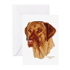 Fox Red Labrador Greeting Cards (6)