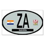 Car Code South Africa 1928-1994 Sticker (Rectangle