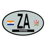 Car Code South Africa 1928-1994 Sticker (Oval 50 p