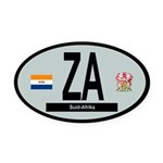 Car Code South Africa 1928-1994 Oval Car Magnet