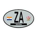Car Code South Africa 1928-1994 35x21 Oval Wall De