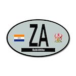 Car Code South Africa 1928-1994 20x12 Oval Wall De