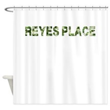 Reyes Place, Vintage Camo, Shower Curtain