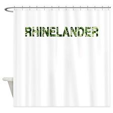 Rhinelander, Vintage Camo, Shower Curtain